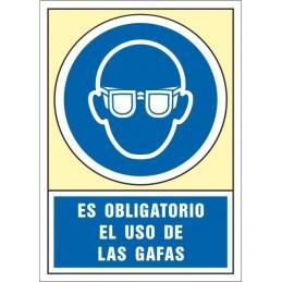SYSSA,Señal Es obligatorio el uso de las gafas