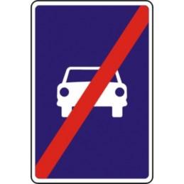 Fin de vía para automóviles
