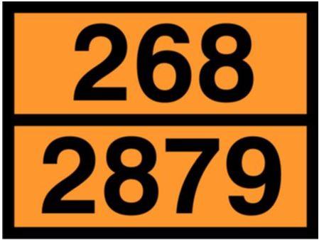 señal materias peligrosas para camiones