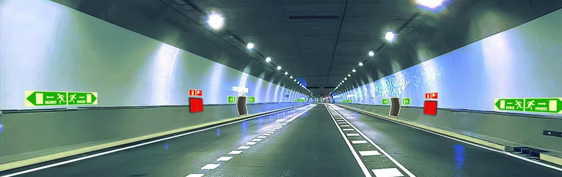 Señalizacion de evacuacion en tuneles