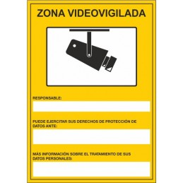 SYSSA, Señal Zona vigilada por CCTV
