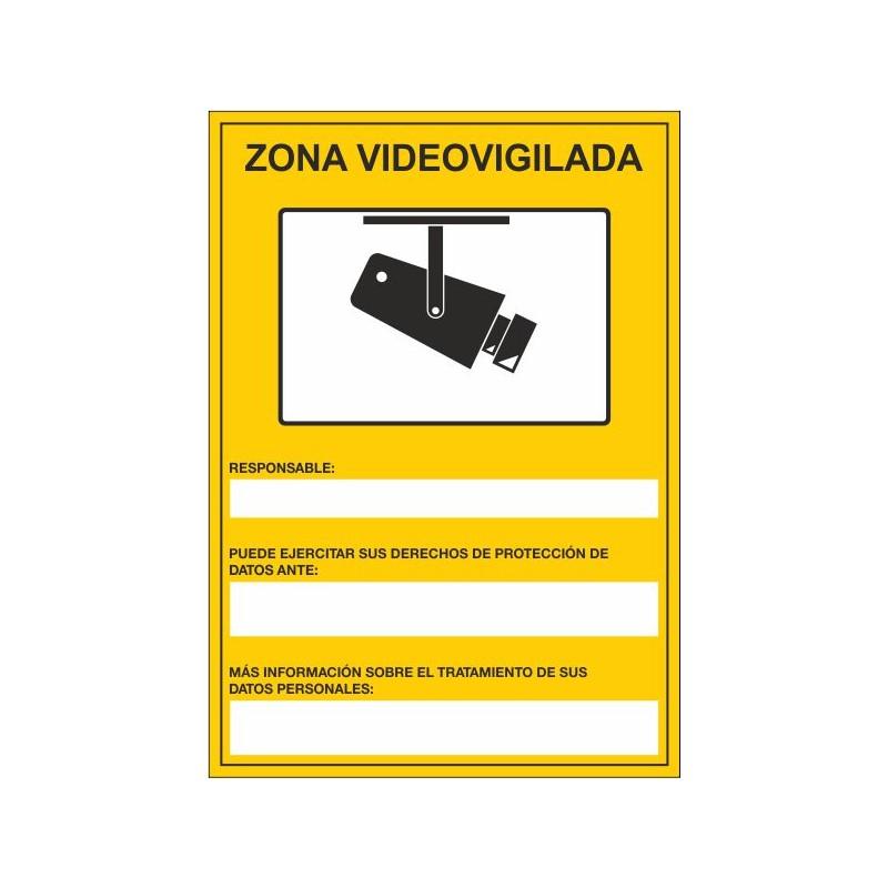 134S-Señal Zona vigilada por CCTV - Referencia 134S