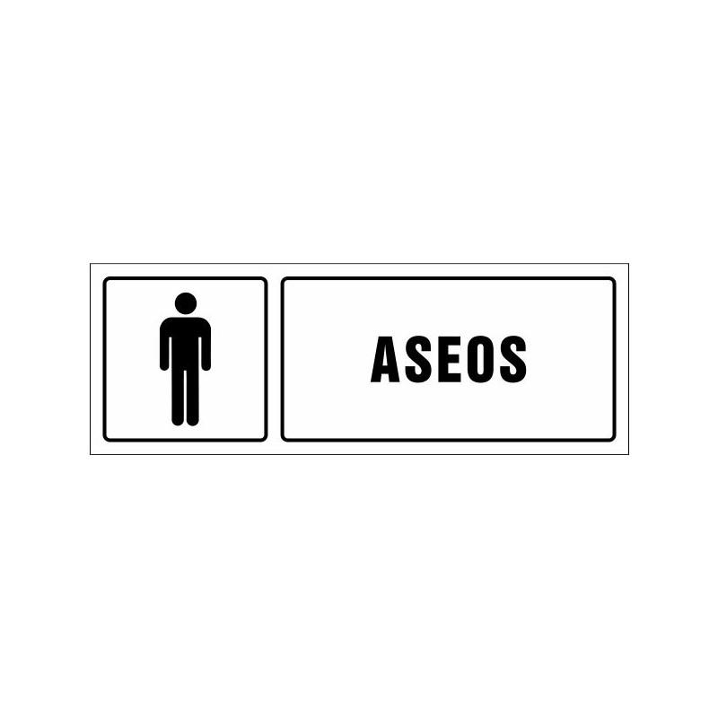 1506S-Cartel Aseos caballeros - Referencia 1506S
