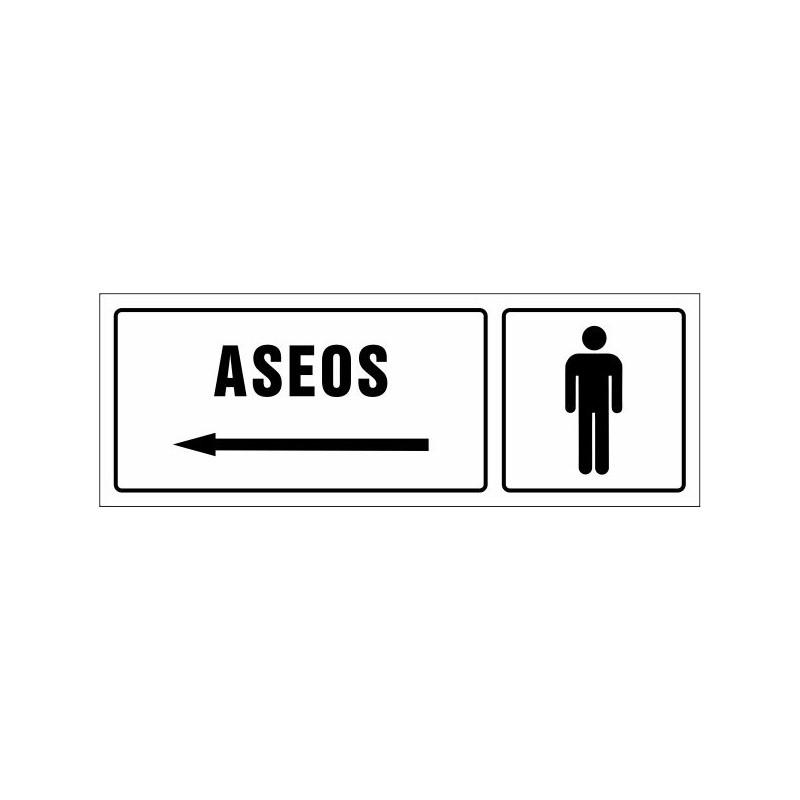 1508S-Cartel Aseos caballeros izquierda - Referencia 1508S