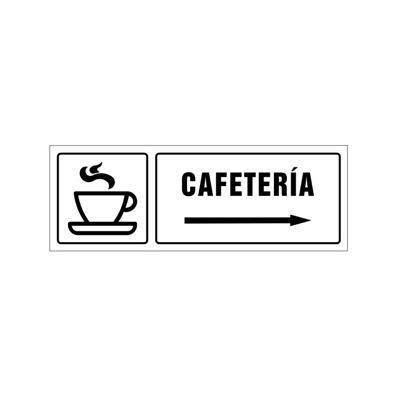 1532S-Cartell Cafeteria dreta - Referència 1532S