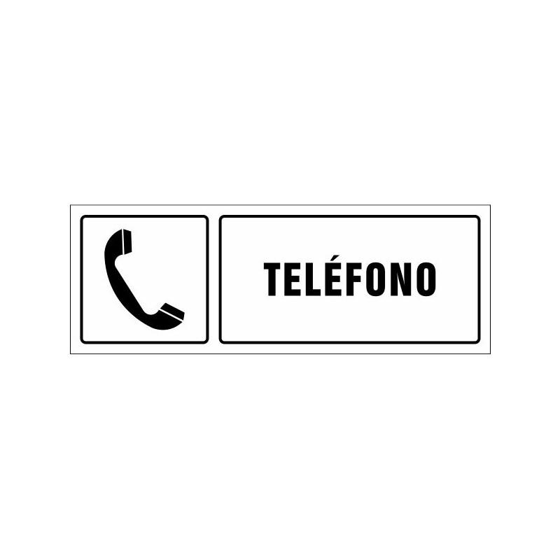 1541S-Cartel Teléfono con texto - Referencia 1541S