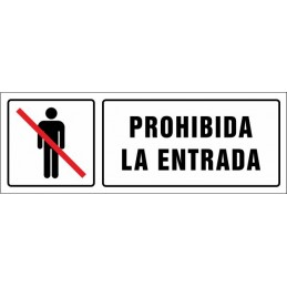 Cartell Prohibida l'entrada...