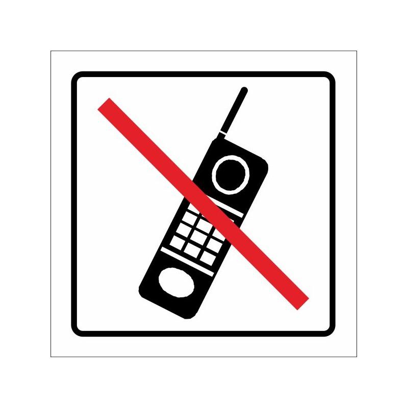 1660S-Cartel Prohibido la utilización de telefonía móvil - Referencia 1660S