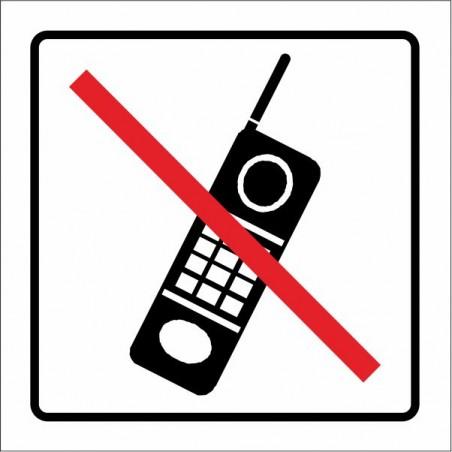 Prohibido la utilización de telefonía móvil