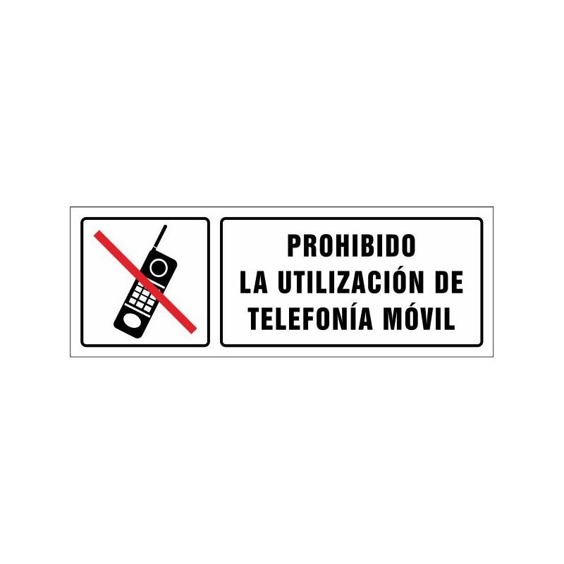 1661S-Cartel Prohibido la utilización de telefonía móvil - Referencia 1661S