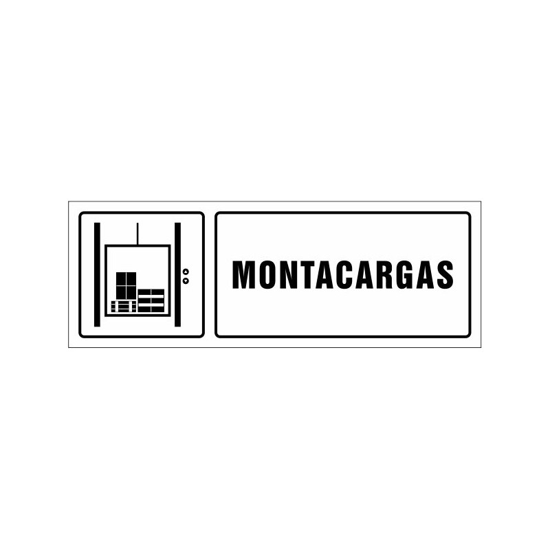 1671S-Cartel Montacargas - referencia 1671S
