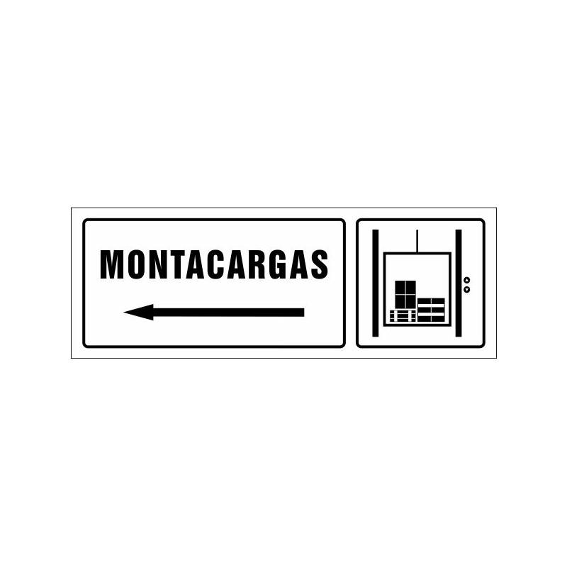 1673S-Cartel Montacargas izquierda - Referencia 1673S