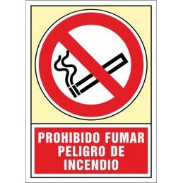 SYSSA,Señal Prohibido fumar.Peligro de incendio