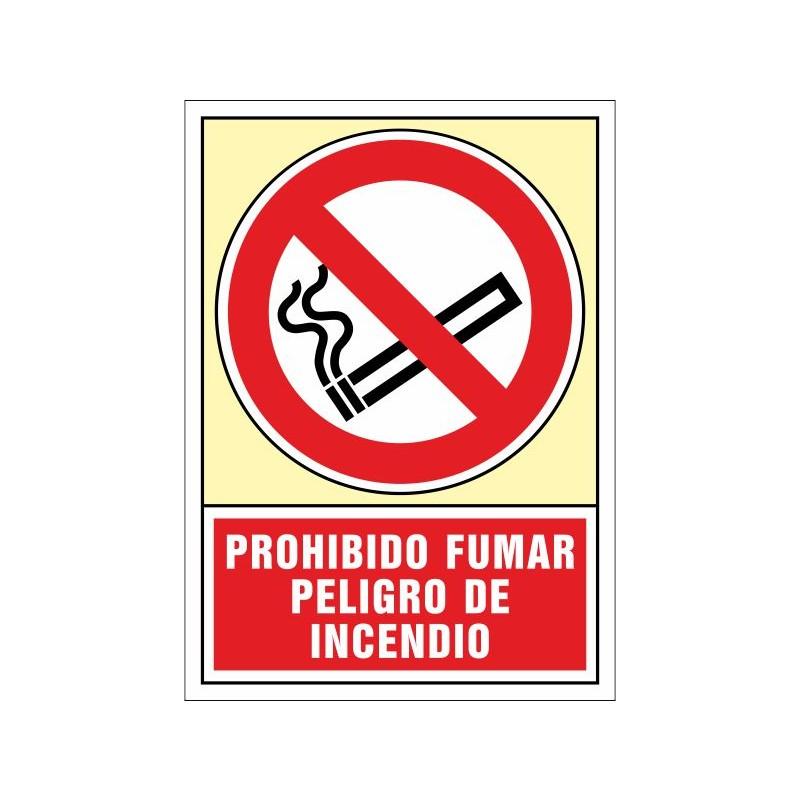 3002S-Senyal Prohibit fumar Perill d'incendi - Referència 3002S