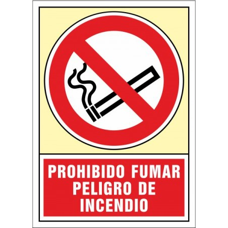 Prohibido fumar Peligro de incendio