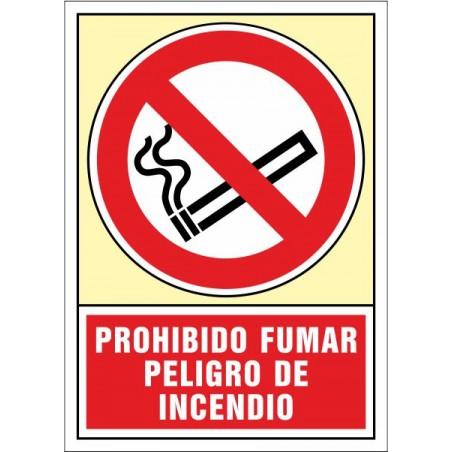 Prohibit fumar. Risc d'incendi