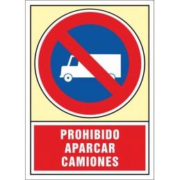 SYSSA,Señal Prohibido aparcar camiones