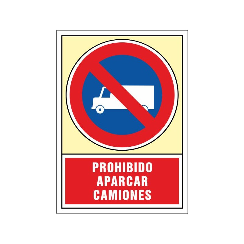 3058S-Prohibido aparcar camiones