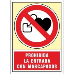 SYSSA, Senyal  Prohibida l'entrada amb marcapassos
