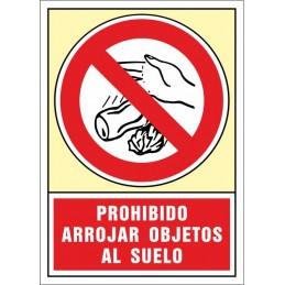 SYSSA,Señal Prohibido arrojar objetos al suelo