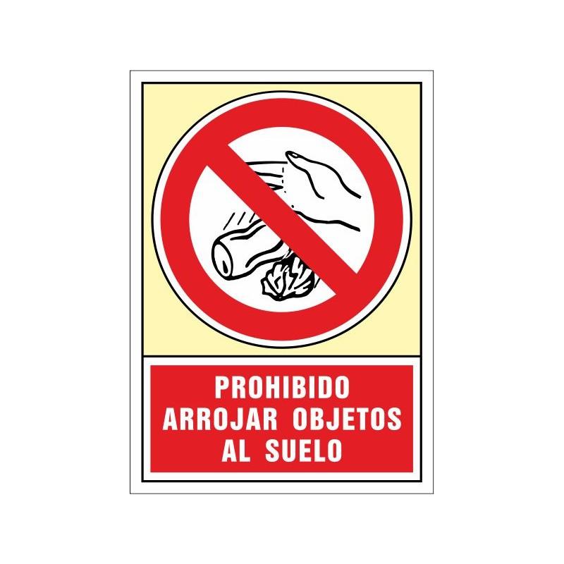 3083S-Prohibido arrojar objetos al suelo