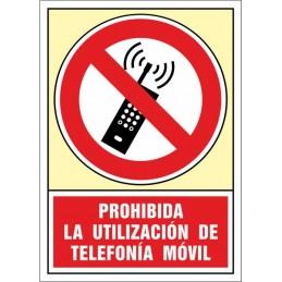 SYSSA,Señal Prohibida la utilización de telefonía móvil