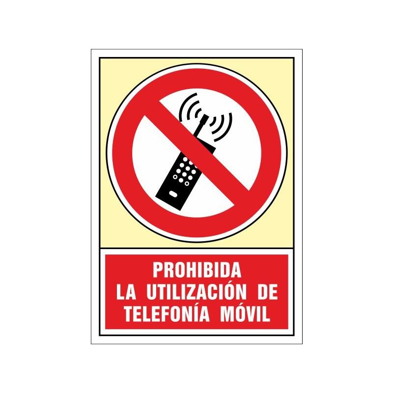3084S-Prohibida la utilización de telefonía móvil