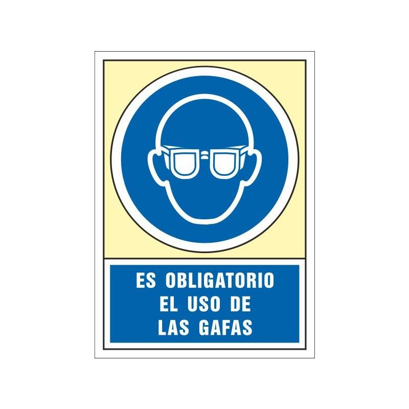 4002S-Señal Es obligatorio el uso de las gafas  - Referencia 4002S
