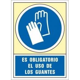SYSSA,Señal Es obligatorio el uso de los guantes