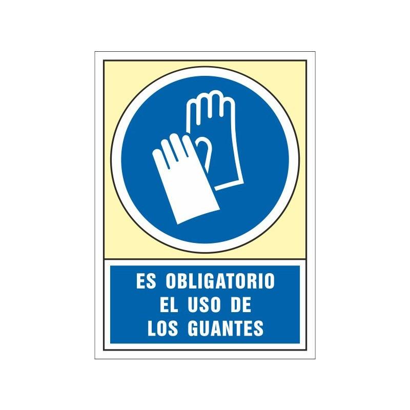4003S-Señal Es obligatorio el uso de los guantes - Referencia 4003S