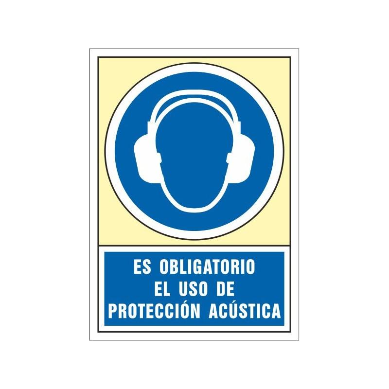 4008S-Señal Es obligatorio el uso de protección acústica - Referencia 4008S