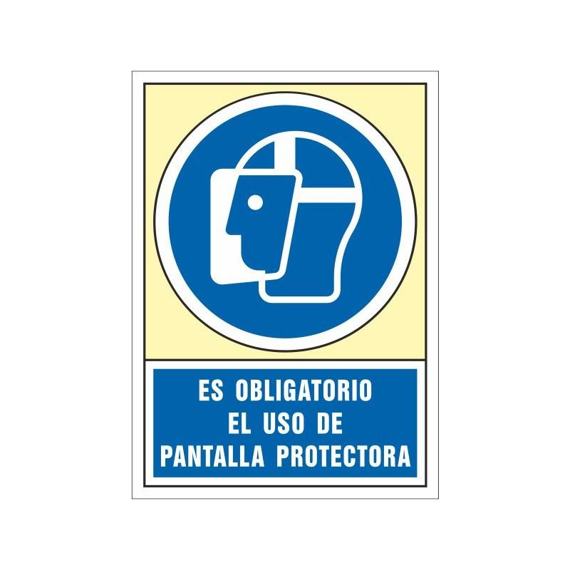 4009S-Señal Es obligatorio el uso de pantalla protectora - Referencia 4009S