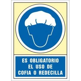 SYSSA,Señal Es obligatorio el uso de cofia o redecilla