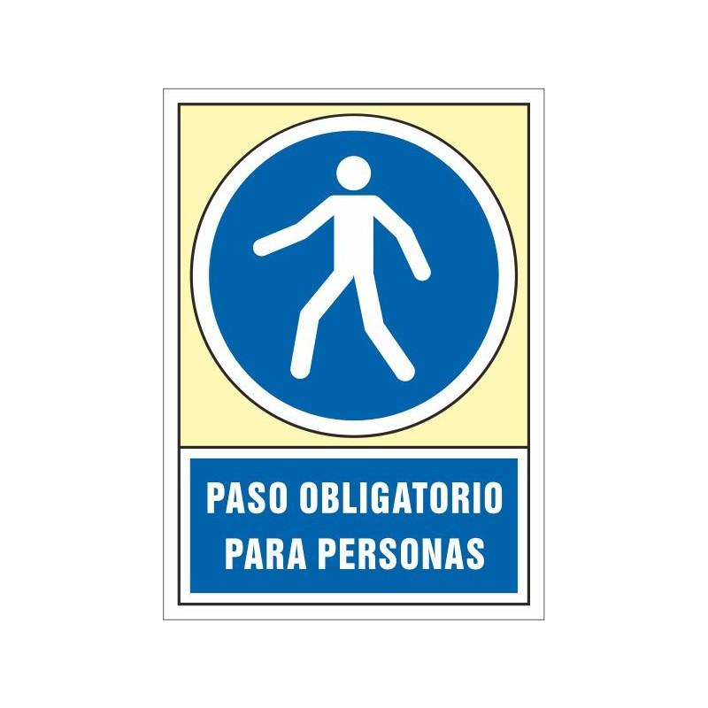 4015S-Señal Paso obligatorio para personas - Referencia 4015S
