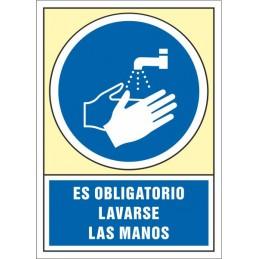SYSSA,Señal Es obligatorio lavarse las manos después de utilizar estos