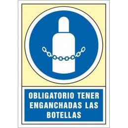 SYSSA,Señal Obligatorio tener enganchadas las botellas