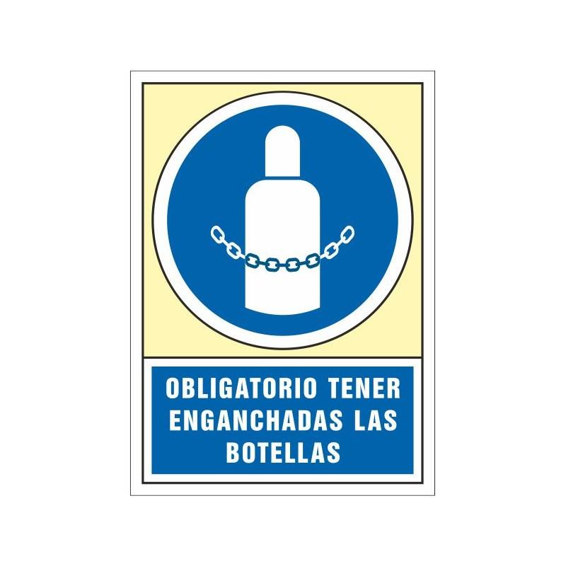 4020S-Señal Obligatorio tener enganchadas las botellas - Referencia 4020S