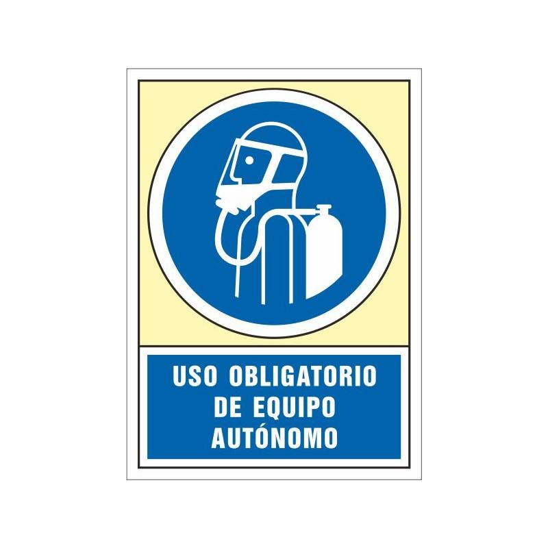 4021S-Señal Uso obligatorio de equipo autónomo - Referencia 4021S