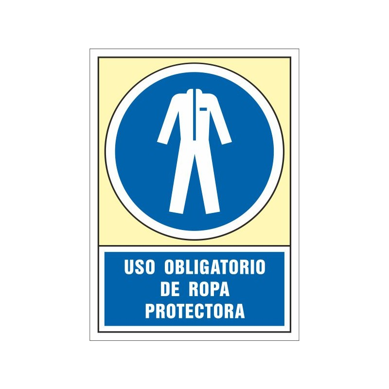 4022S-Señal Uso obligatorio de ropa protectora - Referencia 4022S