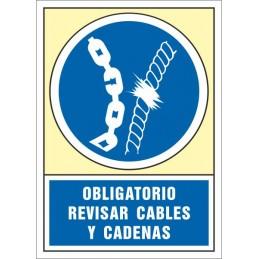 SYSSA,Señal Obligatorio revisar cables y cadenas