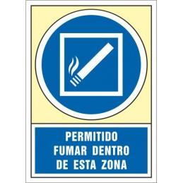 SYSSA,Señal Permitido fumar dentro de esta zona