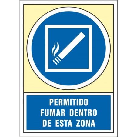 Permitido fumar dentro de esta zona