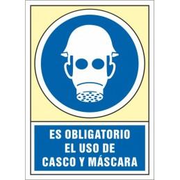 SYSSA,Señal Es obligatorio el uso de casco y máscara