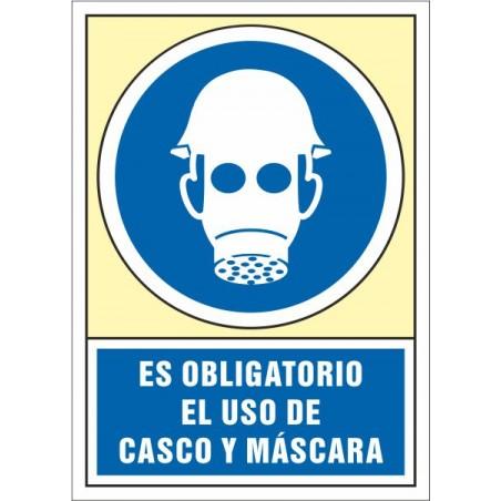 Es obligatorio el uso de casco y máscara