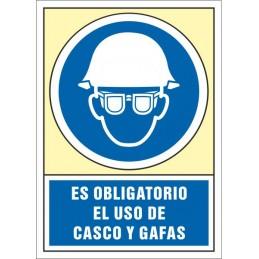 SYSSA,Señal Es obligatorio el uso de casco y gafas
