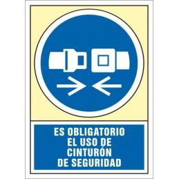 SYSSA,Señal Es obligatorio el uso de cinturón de seguridad