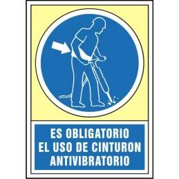 SYSSA,Señal Es obligatorio el uso de cinturón antivibratorio