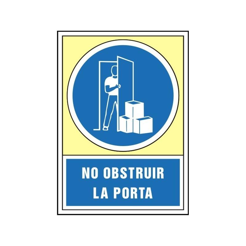 4047S-No obstruir la porta