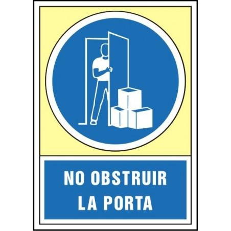 No obstruir la porta