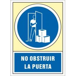 SYSSA,Señal No obstruir la puerta